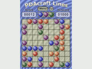 Denkspiel für den PDA bei dem Sie farbige Bälle zu einer Linie verbinden sollen.