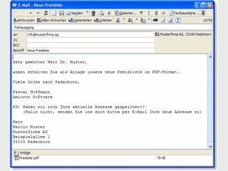 Komfortabler Kontakt- und E-Mailmanager inkl. Adressen, Aufgaben, Termine, uvm.