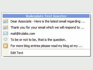 Text-Vorlagen über ein SysTray Icon in beliebige Anwendungen einfügen.