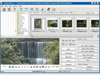 Bildbrowser der an den Windows Explorer erinnert und diverse Funktionen bietet.