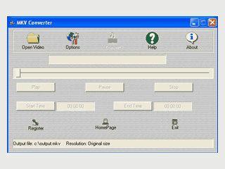 Video-Dateien in das bisher wenig verbreitete MKV-Format konvertieren.