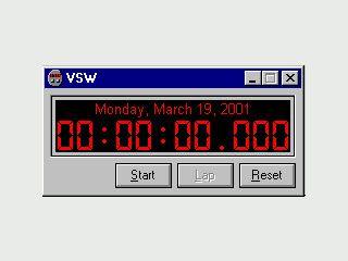 Virtuelle Stopuhr zur Projekbezogenen Zeitmessung.