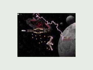 Wilde Weltraumballerei mit 3D gerenderten Graphiken.