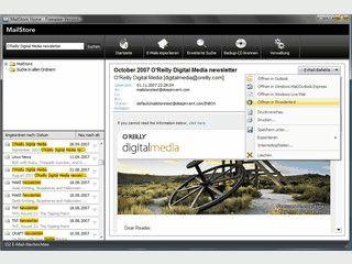 Die Daten von verschiedenen Email-Konten zusammenführen und durchsuchen.