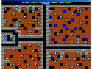 Boulder Dash bzw. Emerald Mine Clone mit Leveleditor