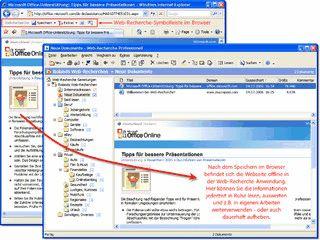 Im Internet gefundene Informationen auf dem PC festhalten, sichten und auswerten