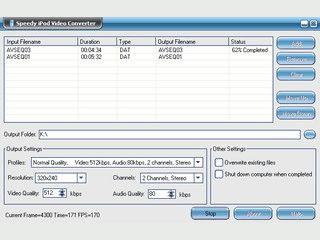 Konvertiert Videos aus allen üblichen Formaten für den iPod.