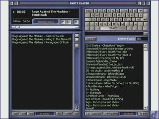Mp3-Player für Parties und Feten. Es wird zwischen Archiv und Playlist getrennt.