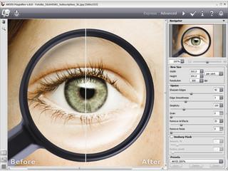 Software mit der Bilder ohne Schärfeverlust vergrößert werden können.