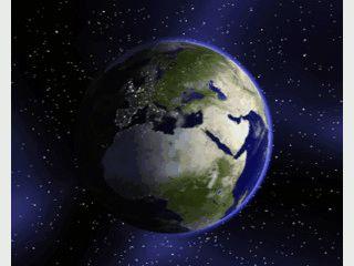 The Earth Screensaver zeigt Ihnen die Erde aus Sicht des Weltraums.