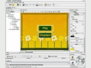 Umfangreiche Software zur Erstellung von Menüs für DVDs