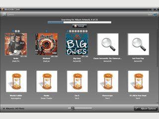 Automatische Suche nach Cover-Abbildungen für Ihre Audio-Dateien.