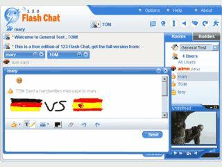 Chat-Server der auf Java und Flash basiert.