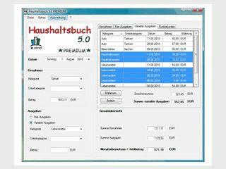 Software zur Unterstützung bei der täglichen Haushaltsführung