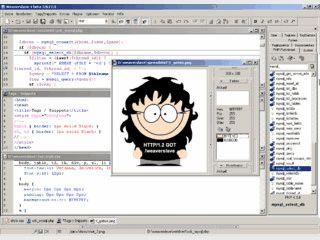 Flexibler Editor mit Syntax-Highlightung für HTML, XML, PHP und weitere.