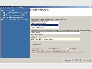Einfaches Tool zum Ändern der Dateinamen von Bildern aus den EXIF-Daten.