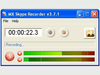 Mitschneiden von Skype-Anrufen.