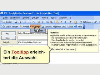 ReplyButler vereinfacht die Beantwortung von Emails durch Vorlagen.