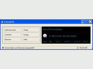 Z-DataDVD brennt komplette Verzeichnisse zur Sicherung auf CD/DVD/Blu-Ray.