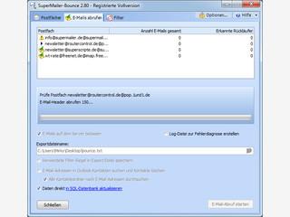 Abruf von unzustellbaren Emails aus POP3 und IMAP-Postfächern sowie Outlook