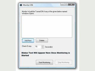 Schaltet den Monitor ein wenn ein bestimmtes Fenster-Ereignis eintritt.