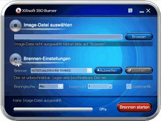 Xilisoft ISO Burner brennt Image-Dateien schnell und unkompliziert auf CD/DVD.