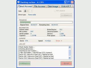 Diagnosetool für Disketten und andere Laufwerke mit Disk Image Funktionalität