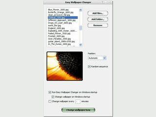 Einfacher Hintergrundbild-Wechsler für beliebige Bilder.