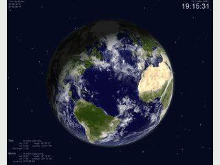 Ein realistisches Bild der Erde als Bildschirmschoner, passend zu Ihrem Standort