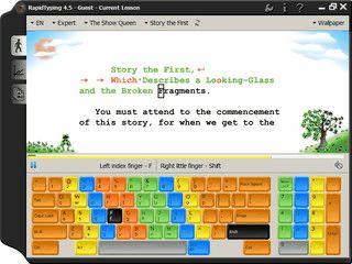 Lernsoftware für Kinder um das Schreiben im 10-Finger-System zu trainieren.