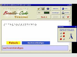 Software zum Lernen der Blindenschrift nach Louis Braille.