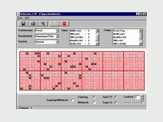 Lottosoftware für das deutsche Lotto 6aus49 mit umfangreichen Funktionen.