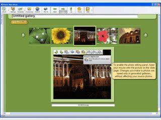 Einfache Erstellung von Webgallerien mit Hilfe von Templates.