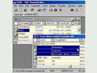 Betrachter und Editor für alle Datenbanken im DBF Format.