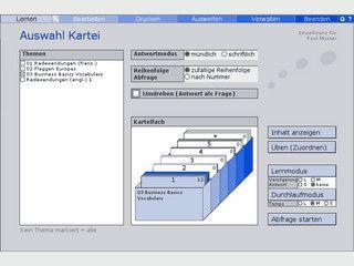 Multimediale Lernkartei für beliebige Inhalte.