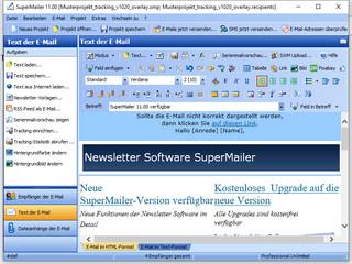 Newsletter Software zum Versenden von personalisierten E-Mails