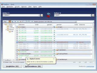 Dateien und Verzeichnisse synchronisieren.