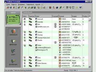 Telefonbuch bearbeiten, SMS senden/speichern, alle Logos erstellen/bearbeiten