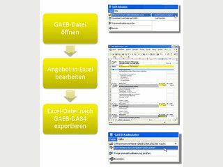 Konvertiert GAEB-Dateien zu MS Excel und zurück nach DA84.