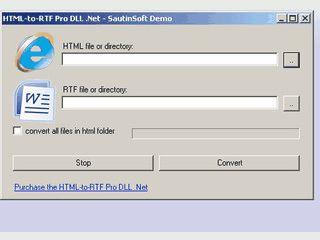 .NET Komponente um HTML und XHTML zu MS Word, RTF und TXT zu konvertieren