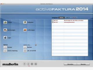 Vollständige Faktura für Mac Computer.