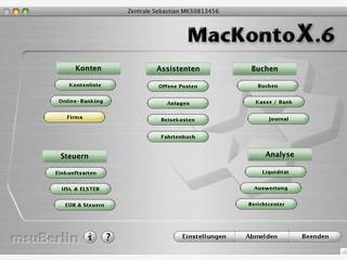 Buchhaltungssoftware mit Elster-Anbindung und Kontoverwaltung.