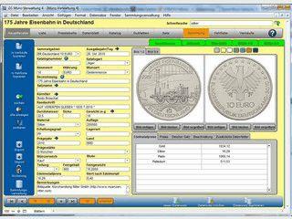 Verwaltungsprogramm für Ihre Münzsammlung