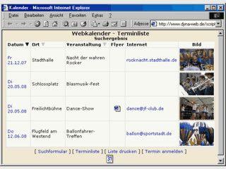 PHP-basierte Software zur Veröffentlichung eines Veranstaltungs-Kalenders