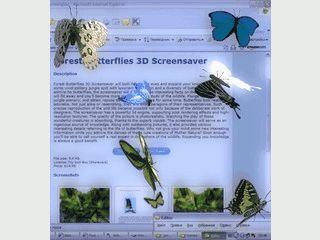 Läßt bunte Schmetterlinge auf Ihrem Bildschirm fliegen.
