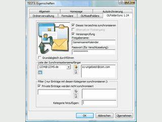 Gemeinsame Nutzung von Outlook Ordnern über das Internet.