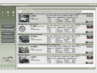 Autosuch-Software für verbreitete Autobörsen.