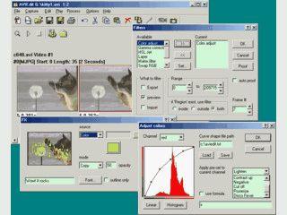 Bearbeitung und Aufnahme von AVI Videos. Effekte hinzufügen und manipulieren.