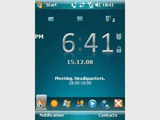 Moderne und intuitive Funktionen für Ihren PDA. Ersatz für den Heute Bildschirm.