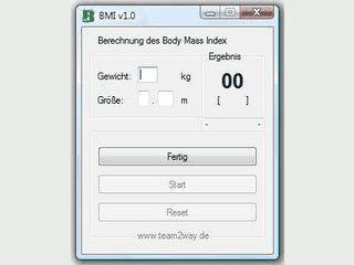 Einfaches Tool zur Berechnung des Body Mass Index